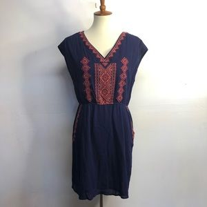 Stitch fix skies are blue embroidered dress size M
